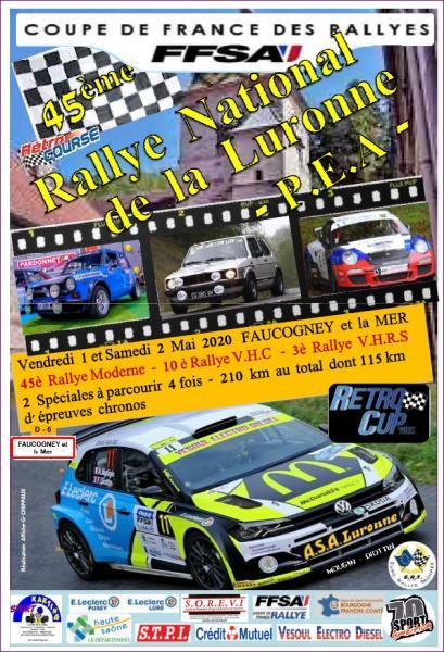 Le Rallye de la Luronne 2020 annulé