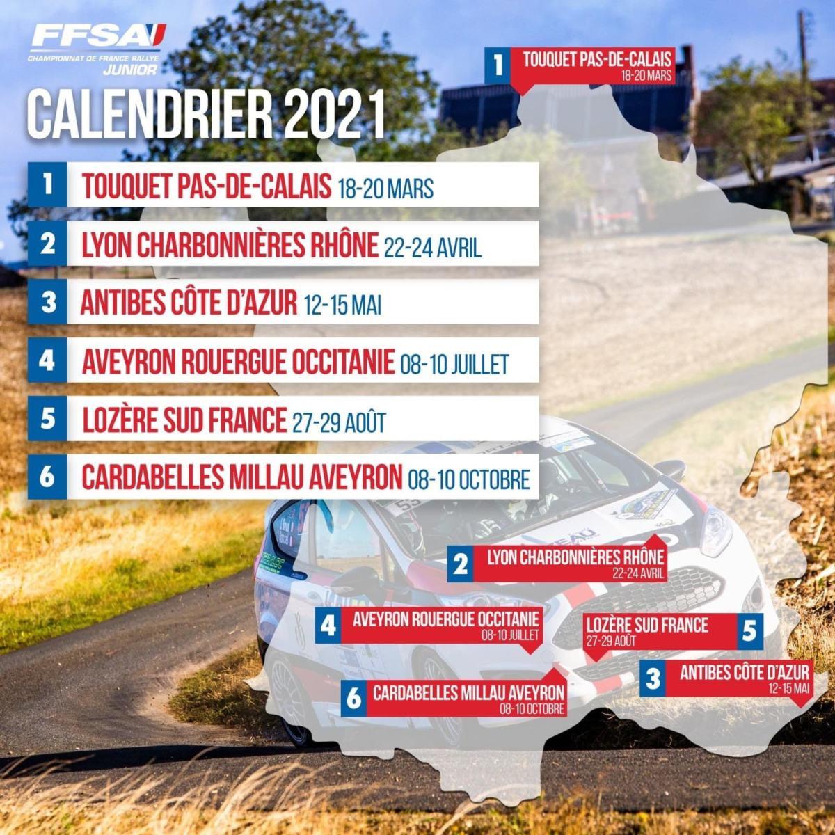 Calendrier Championnat de France Junior 2020